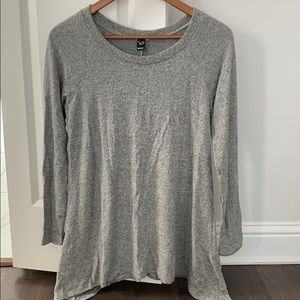 Heather Gray Tunic Top by Windsor One Size